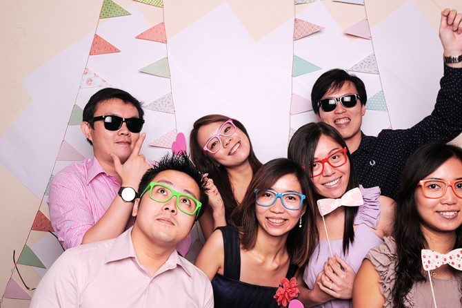 Mingyong and Joanna's Wedding Hello Forever Singapore's Darling Wedding Photo Booth Highlights