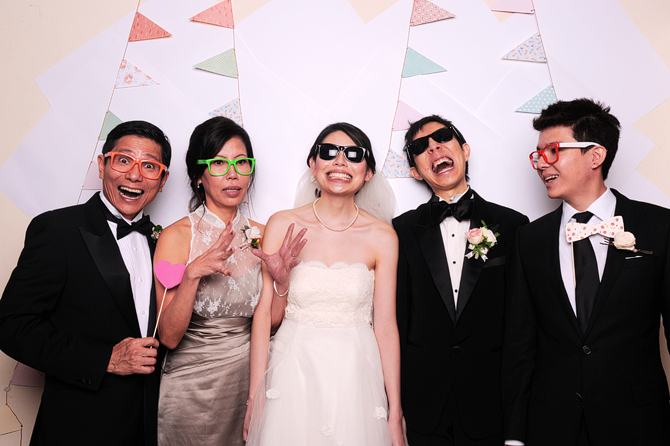 Mingyong and Joanna's Wedding Hello Stranger Singapore's Darling Wedding Event Photo Booth Highlights