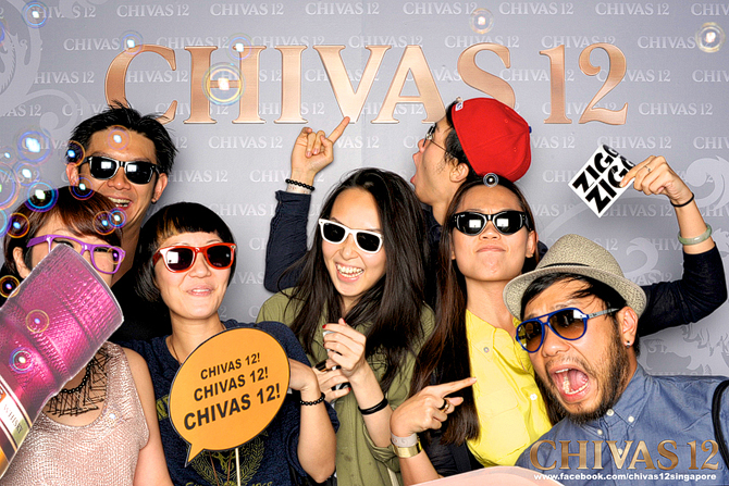 Chivas 12 presents Grand Master Flash Hello Stranger Singapore Event Photobooth