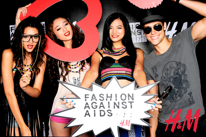 H&M Fashion Against Aids Launch Hello Stranger Singapore's Darling Event Photo Booth