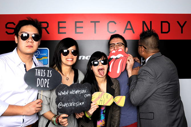 Streetcandy x Lenovo x Eriin Hello Stranger Singapore Event Photo booth