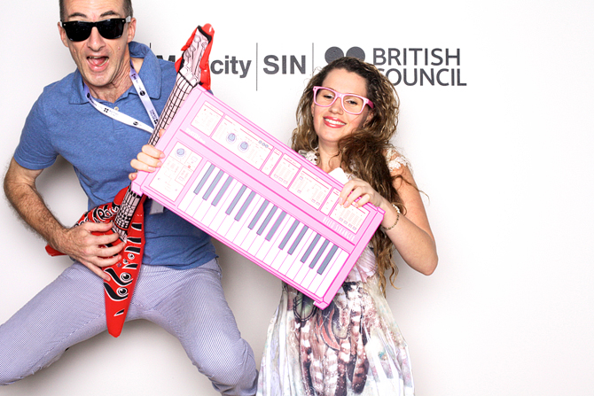 Musicity x British Council Hello Stranger Singapore Event Photobooth