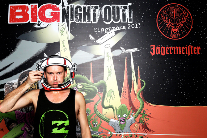 Big Night Out Jagermeister Singapore 2013 Music Festival Yeah Yeahs Vampire Weekend Band of Horses Fort Canning Singapore's Darling Event Photo Booth